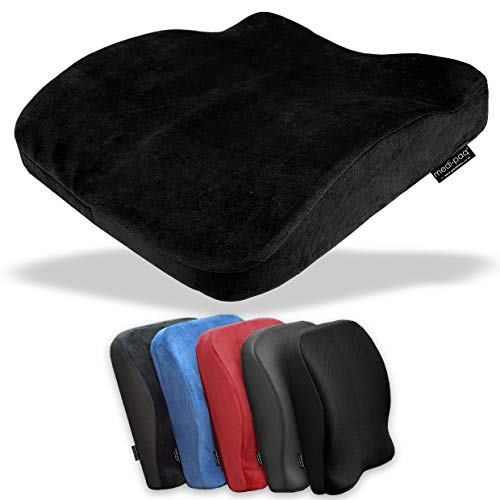 Medipaq The Memory Foam Contoured 2in1 Seat & Back Cushion  Reduce Back Ache, Improve Posture at Home, Office Chairs, Wheelchair or Car Seats!