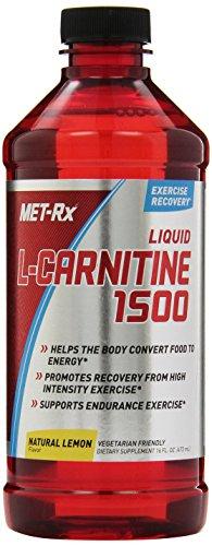 MET-Rx Liquid L-Carnitine 1500, Natural Lemon Flavor, 16 oz.