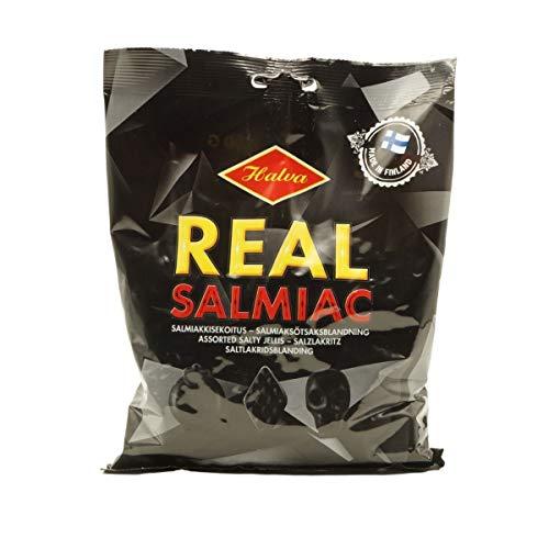 Halva Real Salmiak, Salz-Lakritz, Doppelpack 2 x 400 g, Halva Finnland