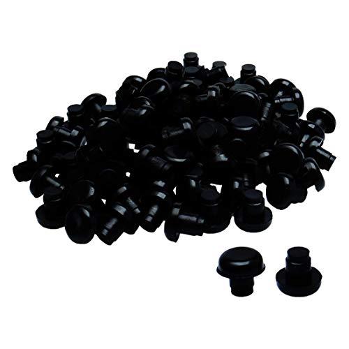 YeVhear 100 piezas 8 mm negro parachoques de barra deslizante, muebles de exterior, mesa de cristal superior de escritorio, anticolisión integrada