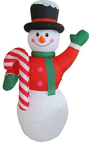 Weihnachtsmann Aufblasbar LED Deko Weihnachten Verschiedene Motive für Innen und Außen (XXL Schneemann 405007)