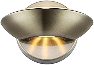 Wandleuchte gold messing LED Metall Modern Warmweiß