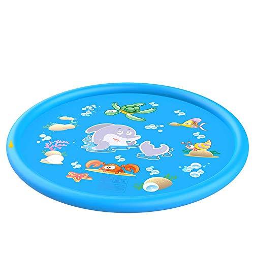 Juego de rociador de Agua Inflable Estera de rociador Nuevo Blue Dolphin PVC Gamecube Fun Sea Animal Fountain