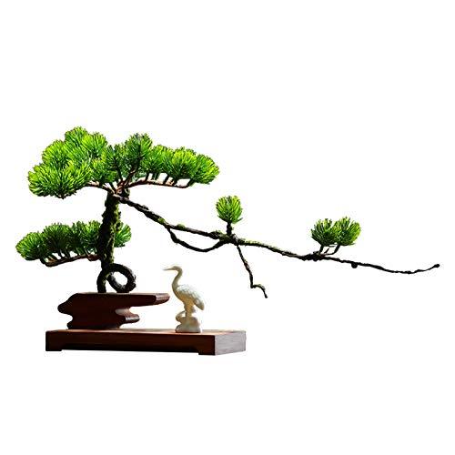 Decoración de plantas falsas Lucky Beating Pine Potted Indoor Artificial Planta Artificial Estilo de estar Estudio Entrada Oficina Oficina Decoración de Escritorio Artesanía Árbol Bonsai Artificial