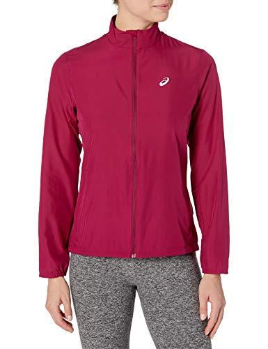 ASICS Damen Silver Run Jacket Jacke, Getrocknete Beere, Large