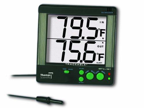 Thomas Scientific ABS Traceable Big Digit 4 Alarm Thermometer, met 1-1/8