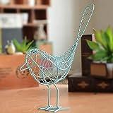 FYLYHWY Metal Iron Wire Bird Hollow Modelo Artificial Artesanía Moda Casa Muebles Mesa Adornos Decoración Regalo Adornos (Color : L)