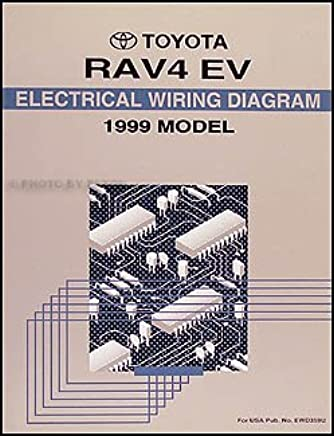 1999 toyota rav4 electric vehicle wiring diagram manual original paperback  – 1999