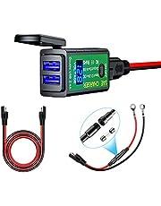 YGL Impermeable Cargador USB de Motocicleta 4.8A Adaptador SAE a USB