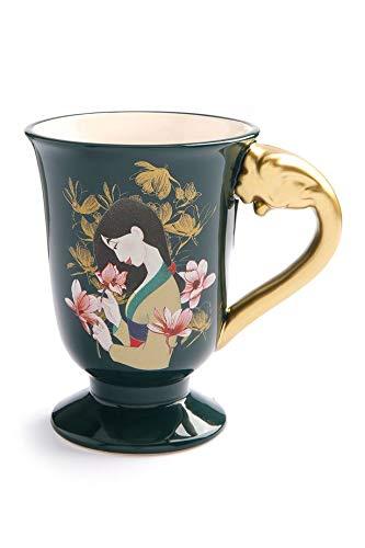 Disney, Set con teiera e tazza da tè, motivo: Mulan, collezione New Home, set regalo Cup Set Verde bottiglia