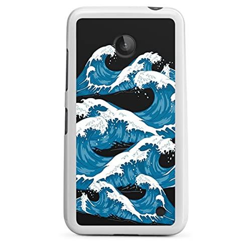 DeinDesign Silikon Hülle kompatibel mit Nokia Lumia 630 Hülle weiß Handyhülle Men Style Meer See