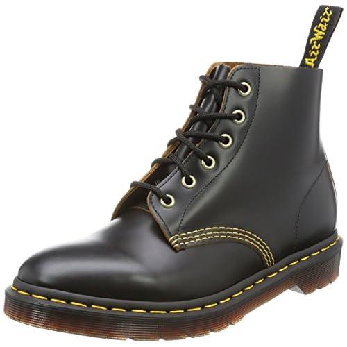 Dr.Martens Mens 101 Arc 6 Eyelet Black Leather Boots 45 EU