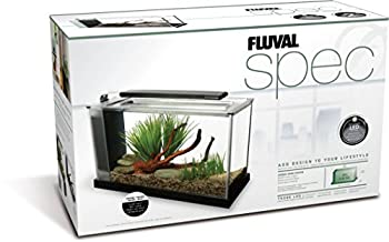 Fluval SPEC V Aquarium Kit Aquarium with LED Lighting and 3Stage Filtration System 5 Gallon Black 10516