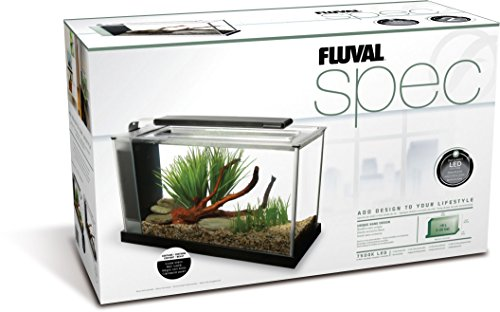 Fluval Spec V Aquarium Kit, 5-Gallon, Black (10516A2)