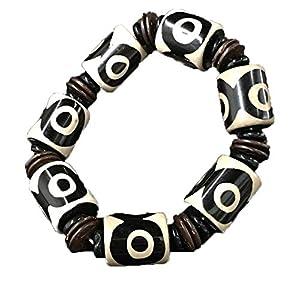 ZHIBO Tibet Old Dzi Perlen Armband Stein Achat Schmuck
