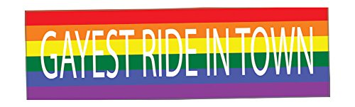 Rogue River Tactical Rainbow LGBT Large Funny Bumper Sticker Auto Car Decal Truck RV Boat Window Gayest Ride in Town Gay Lesbian