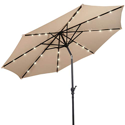 giantex solar umbrella with light