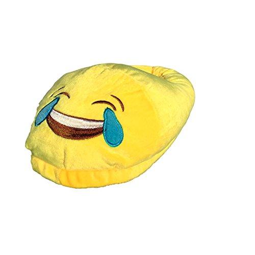 EKNA Emoticon Emoji-Con Emotikon Hausschuhe, Gr. 35-43 Unisex, Motivauswahl Kacki/Kackhaufen; Smiley Verliebt u. Kuss, 36/43 EU, Lustig