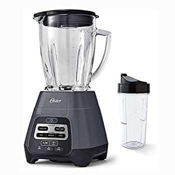 Oster Master Series Blender with Texture Select Settings Blend-N-Go Cup and Glass Jar Grey 6 Cups