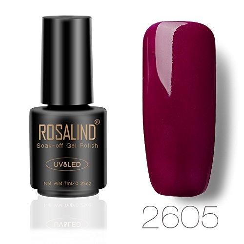 ROSALIND UV Nagelgelpoliermittel Weinrot Farbe Semi-Permanent Für Nagelverlängerungen Maniküre Pediküre 7ml