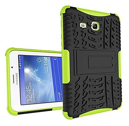 XXY Cajas De Tabletas para Samsung Tab 3 Lite 7.0 T110, Caja De La Armadura Híbrida De Doble Capa Detachable [Kickstand] 2 En 1 Tubo Resistente a Prueba De Golpes. (Color : Green)