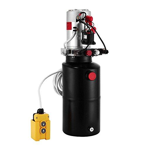 Buoqua Hydraulikpumpe 8L Hydraulikpumpe Doppeltwirkend 12V DC Hydraulikaggregat 12v Doppeltwirkend 3200PSI Hydraulic Pump (8L)