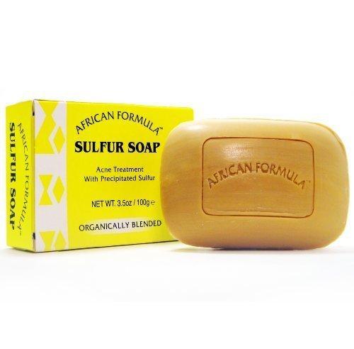 Sulfur Soap Acne Treatment Facial Soap (3.5oz) by Sulfur Soap African Formula