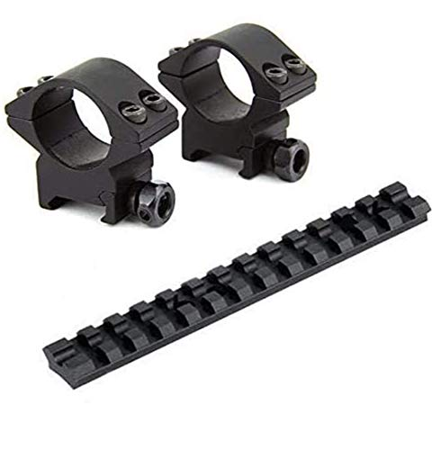 Gotical Machine 1' Low Profile Rifle Scope Rings for Picatinny/Weaver Rail with Mossberg 500/590 Series Tactical Shotgun Picatinny Rail Mount (Pack of 2)