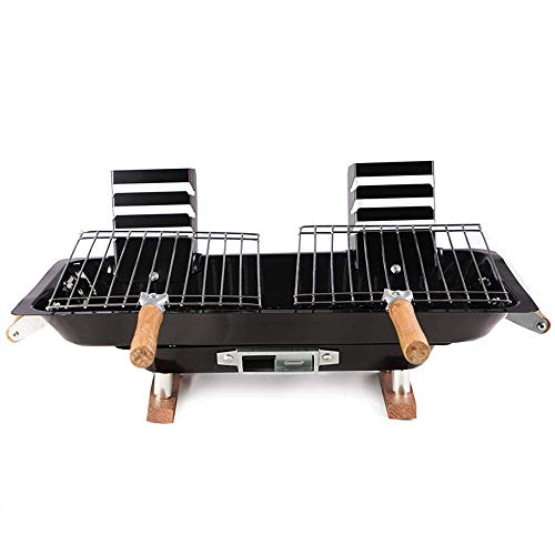 Why Should You Buy Zjnhl Family Gathering/Small Barbecue Portable Grill Folding Wood Carbon Smokeles...