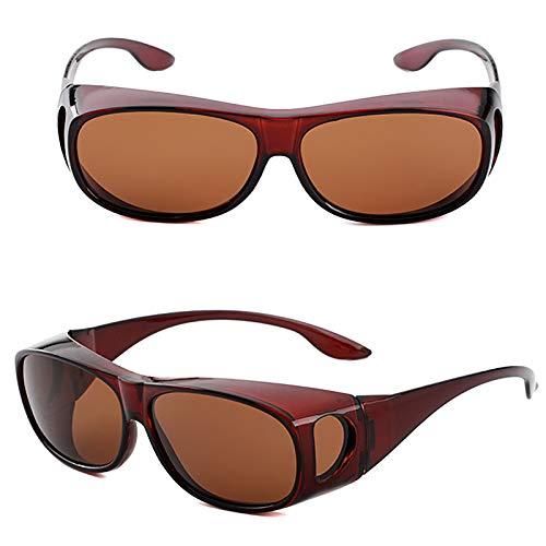 APCHY Gafas De Sol Deportivas Polarizadas para Hombres Y Mujeres Lente TAC Polarizada Protección UV400 Marco Irrompible para Correr Ciclismo Pesca Conducción Golf,D