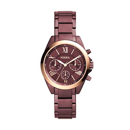 Fossil Modern Courier BQ3281 - Reloj cronógrafo con correa de acero inoxidable, color vino