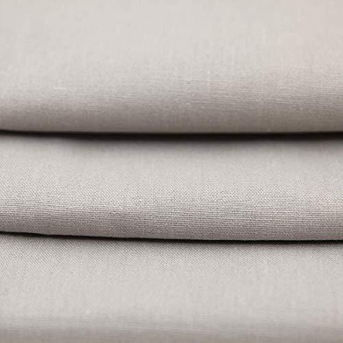 joyMerit Bomullstyg linnetyg, klädsel, metervara, möbeltyg, väv, korsstygn, bredd: 140 cm – vit