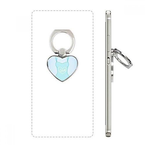 DIYthinker Illustratie Blauw Badpak Hart Telefoon Ring Stand Houder Beugel Universele Ondersteuning Gift