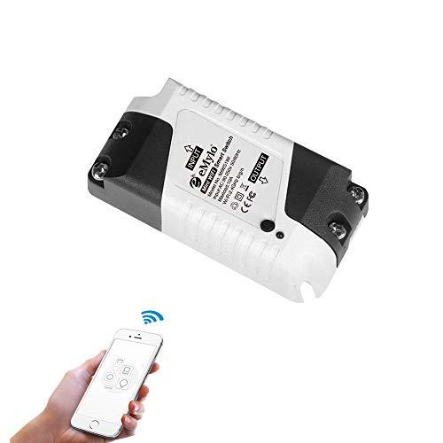 eMylo Smart WiFi-Schalter Mini Wireless Relay Lichtschalter AC 220 V Smart Life App Fernbedienung Home Automation Timer Kompatibel mit Alexa Echo Google Home IFTTT, Unterstützung IOS Android 1 Packung