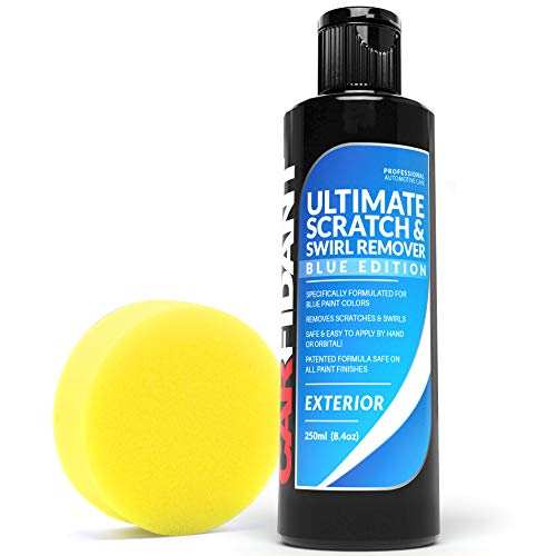 Carfidant Blue Car Scratch Remover - Ultimate Scratch and Swirl Remover for Blue Color Paints - Polish & Paint Restorer - Easily Repair Paint Scratches, Scratches, Water Spots! Car Buffer Kit