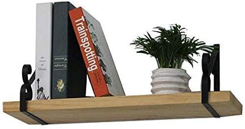 Willesego Wandregal Wohnzimmer Wandregal Kreative Schlafzimmer Dekor Massivholz Bücherregal (Größe  60 cm) (Farbe   -, Größe   60 cm)