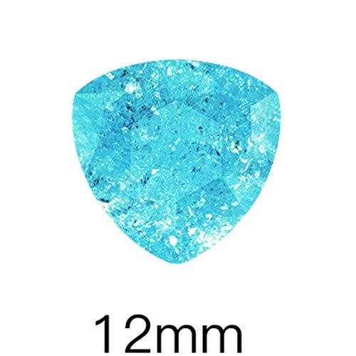 Lac Bleu Couleur Cristal De Glace Pierres 6x8mm Forme De Goutte Nail Art Strass Pointback Carré En Verre S Ongles Accessoires, Trilliant 12mm, 10 Pcs