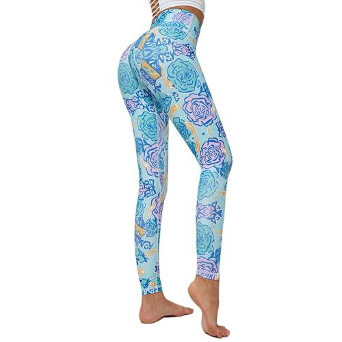 QTJY Pantalones de Yoga Transpirables y de Secado rápido Leggings elásticos de Cintura Alta Leggings Deportivos para Correr al Aire Libre D XL