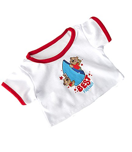"""Best Friend T-Shirt Teddy Bear Clothes Fits Most 14""""-18"""" Build-a-Bear and Make Your Own Stuffed Animals"""