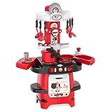 Maxiaoyun Kinderküche Spielzeug Kinder Küche Spielset mit Spielzeug-Zubehör-Set inklusive Moderne Chef-Küche Bunte Kunststoff-Spielküche Entwickeln Kinder Phantasie und Kreativität