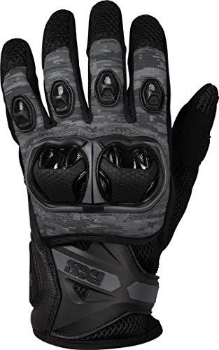 IXS Motorradhandschuhe kurz Motorrad Handschuh Montevideo Air S LT Handschuh schwarz/grau XL, Herren, Tourer, Ganzjährig, Leder