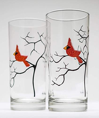 Cardinal Glassware Set of 2 Highball Glasses 16 oz
