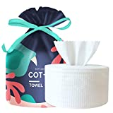 Disposable Cotton Face Towel, Non-Woven Cotton Tissue for Senesitive Skin, Thick Dry Wipes Facial Tissues, Baby Washcloths, Makeup Remover, Wet or Dry Use