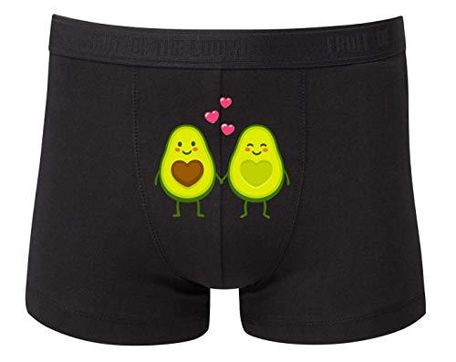 Boxershort - Avocado Cartoon Verliebt Valentinstag - Unterhose für Herren und Männer