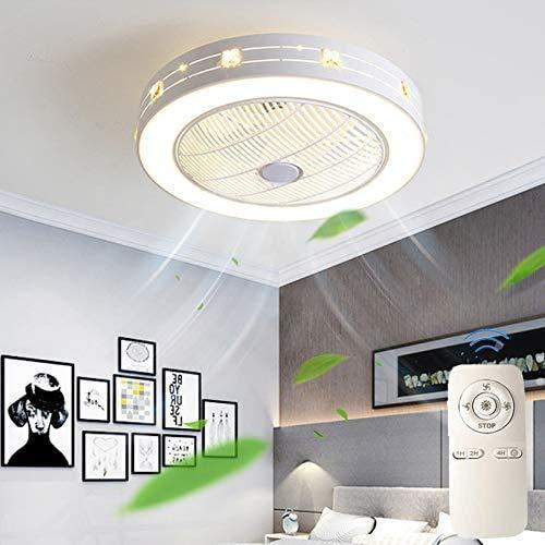 BHA Plafondventilator Met Licht En Afstandsbediening 36W Meisjes Industrieel Met Lamp Plafondlamp Metaal landelijk Plafondverlichting Led Voor Slaapkamer Woonkamer Kinderkamer