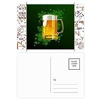 ビールのアイルランドの聖パトリックの日 公式ポストカードセットサンクスカード郵送側20個
