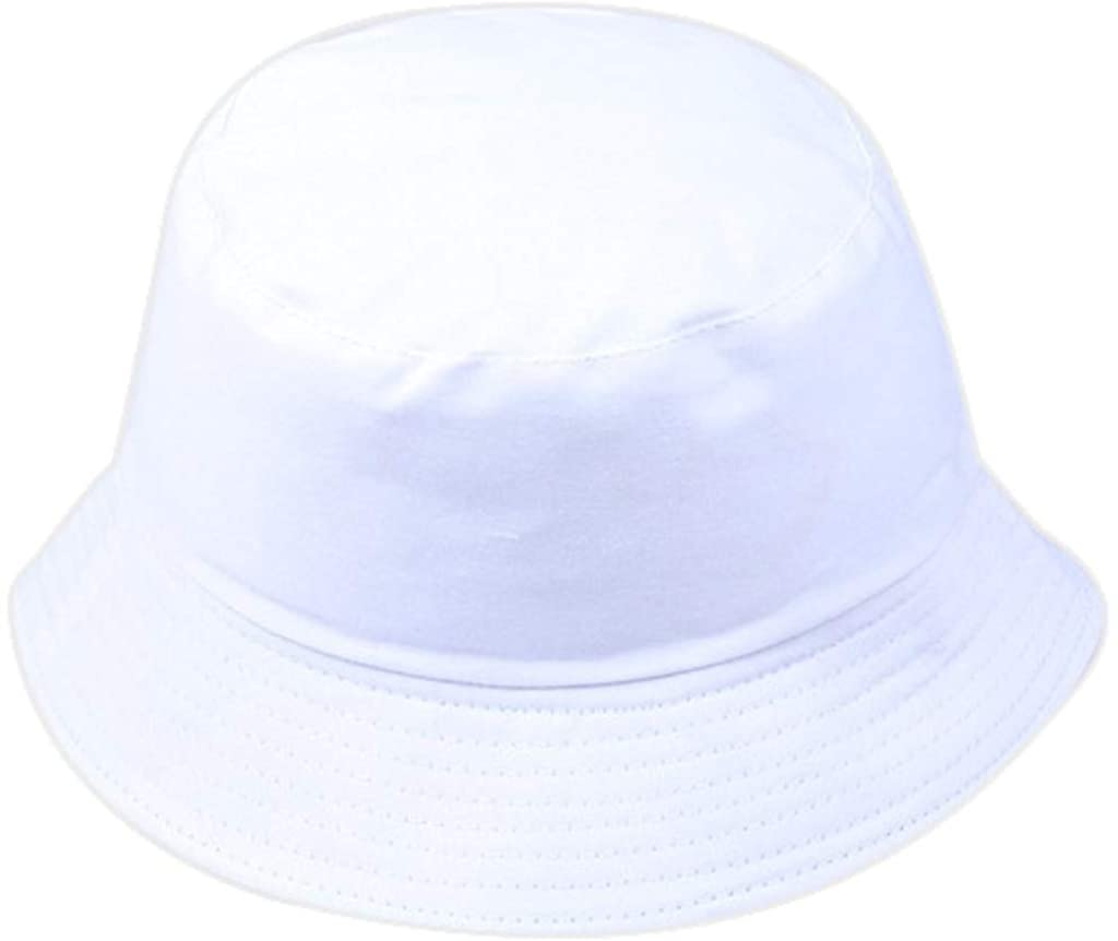TOTOD Unisex Bucket Hat Reversible Fisherman Hat Plant Solid Color Outdoor Sun Hat Packable Sunscreen