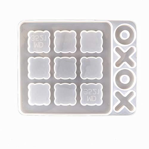 Yunnan 3D Tic Tac Toe Formen O X Brettspiel Epoxidharz Form Gussform Silikonform für Schmuckherstellung DIY Handwerk hausgemachte Dekorationen