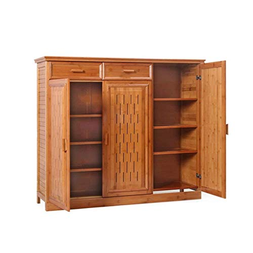 HLL Bamboo Simple Shoe Cabinet Multi-Layer Solid Wood Shoe Rack Simple Modern Storage Living Room Porch Multi-Function Hall Cabinet Shoe Cabinet