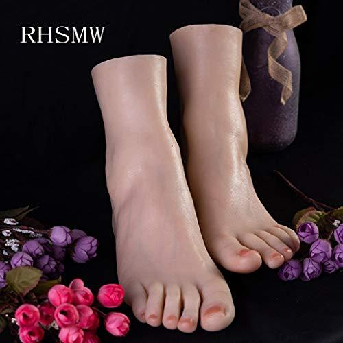 RHSMW Sexy Silikonfüße Künstlicher Fuß Kann Mit Echten Menschlichen Füßen Verglichen Werden, Nach Dem Kauf Sie Werden Die Sexiesten Füße Haben (100% Markengarantie, Schneller Kauf